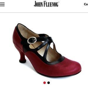 Fleuvog Pearl Hart criss cross Mary Jane Heel 8.5